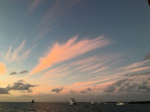 Sunset in the Exumas