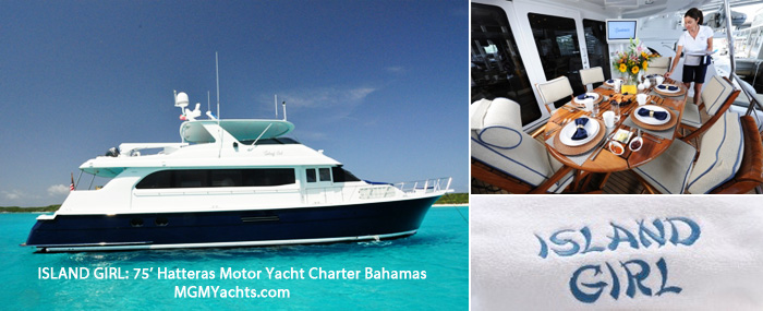40th Birthday in the Bahamas with Yacht Charter ISLAND GIRL