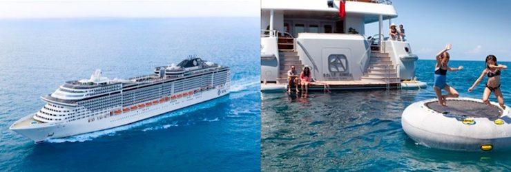 Compare Luxury Cruise Ship vs Luxury Yacht Charter
