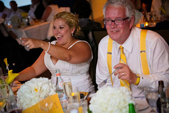 Wedding and reception on a party yacht charter