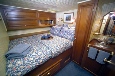 Staterooms on yacht