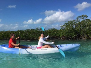 Kayaking in the Exumas