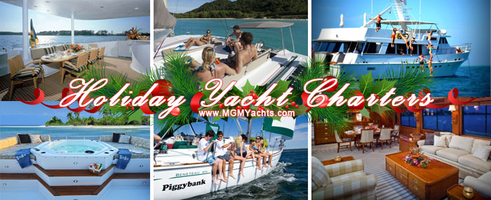 Holiday Yacht Charters for Chistmas and New Years