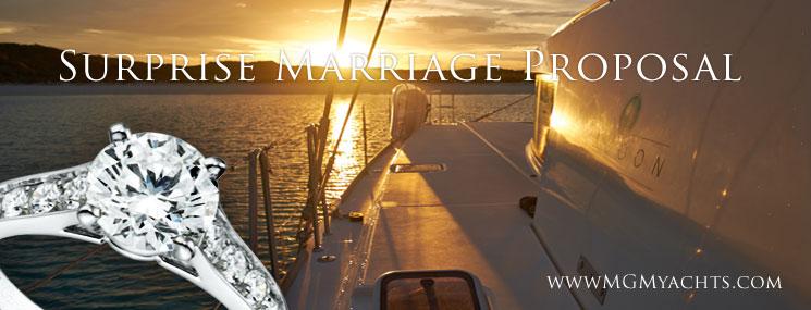 Surprise Marriage Proposal on Bahamas Yacht Charter Kiwi Pryde
