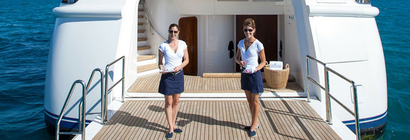 Yacht charter professional crew
