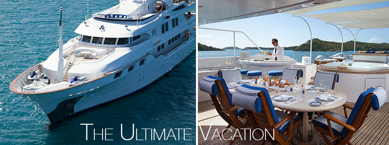 Luxury Crewed yacht charters are the ultimate vacation