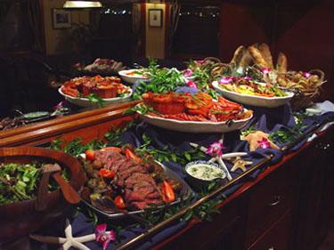 cuisine on yacht